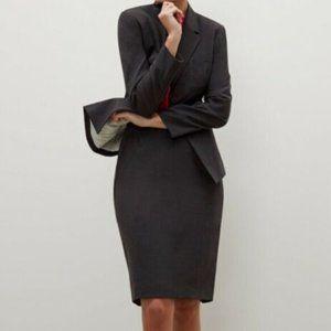 MM LaFleur Gray Pencil Skirt wool straight